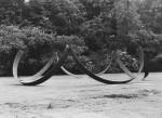 1982, Jan Goossen,Lazy-U, corten steel, 1.80 x doorsnede 7 meter. Beeldenpark Middelheim, Antwerpen