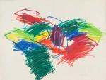 1985, Jan Goossen, La Concepcion (Working on dreams), oil stick on paper