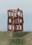 ossen , Running Squares, Corten staal, 7 meter hoogte, plaatsing in Rosmalen gemeente Den Bosch. Ontwerp in collectie Noordbrabants Museum. Foto Martin Stoop