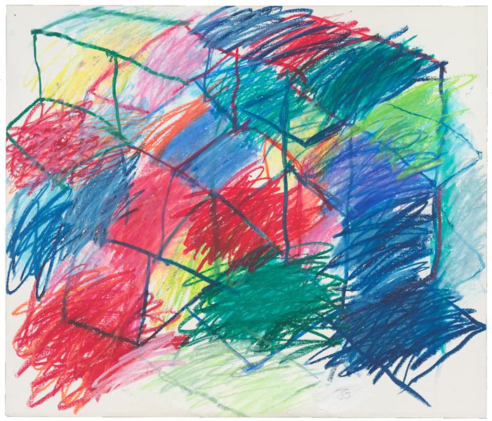 1986, Jan Goossen, La Concepcion (Working on dreams), oil stick on paper