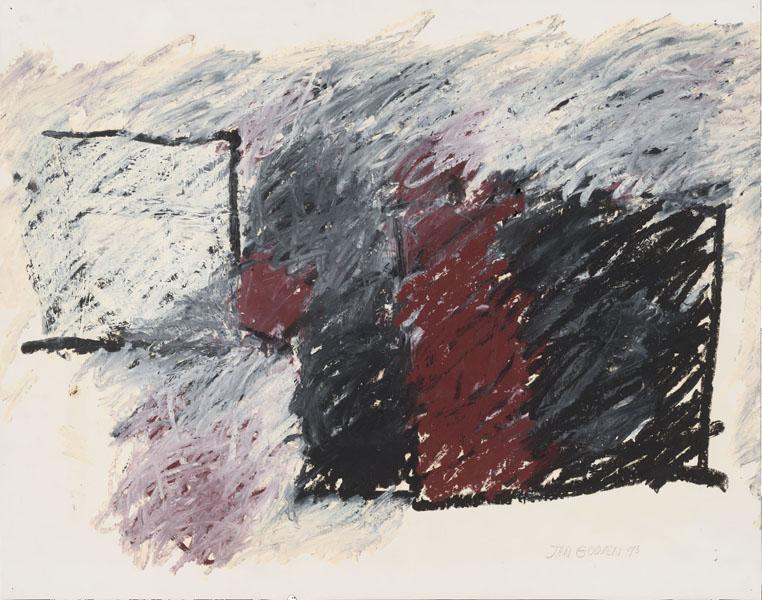 1993, Jan Goossen, No Title, oil stick on paper