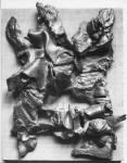 1960, Jan Goossen, relief, 22 x 30 cm x 5 cm h, bronze. photo Paul van den Bos