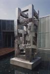 2002, Jan Goossen, Donjon, RABO bank Vlijmen gemeente Heusden, roestvrijstaal, hoogte 4 meter