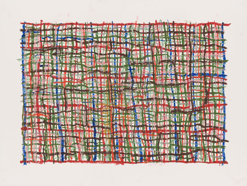 1999, Jan Goossen, No Title, oil stick on paper