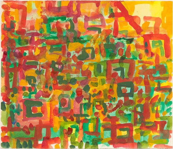 2000, Jan Goossen, No Title, gouache on paper