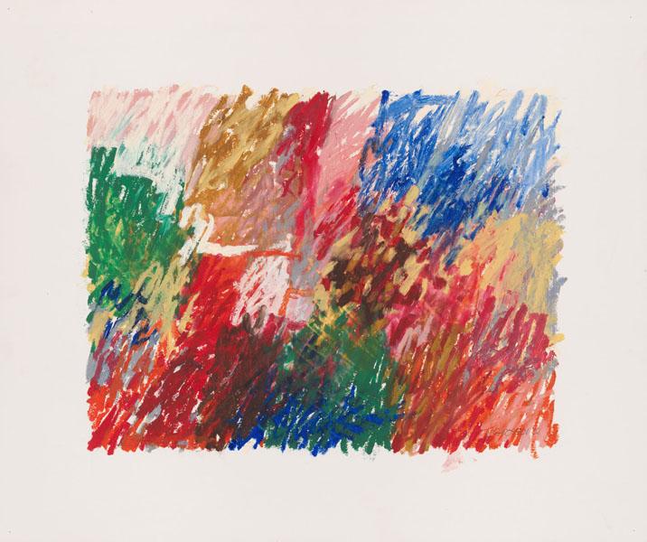 2002, Jan Goossen, No Title, oil stick on paper