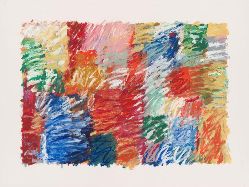 2003, Jan Goossen, No Title, oil stick on paper