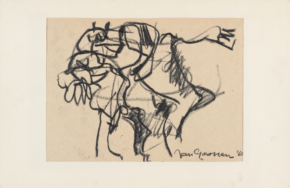 1960, Jan Goossen, No Title, charcoal on paper