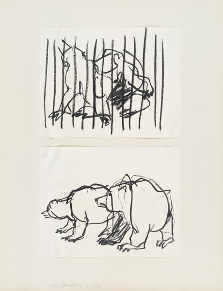 1961, Jan Goossen, 'Artis', crayon on paper