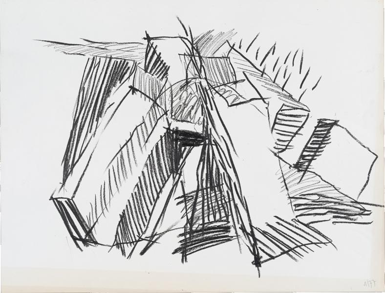 1977, Jan Goossen, 'Spui (4) Amsterdam'