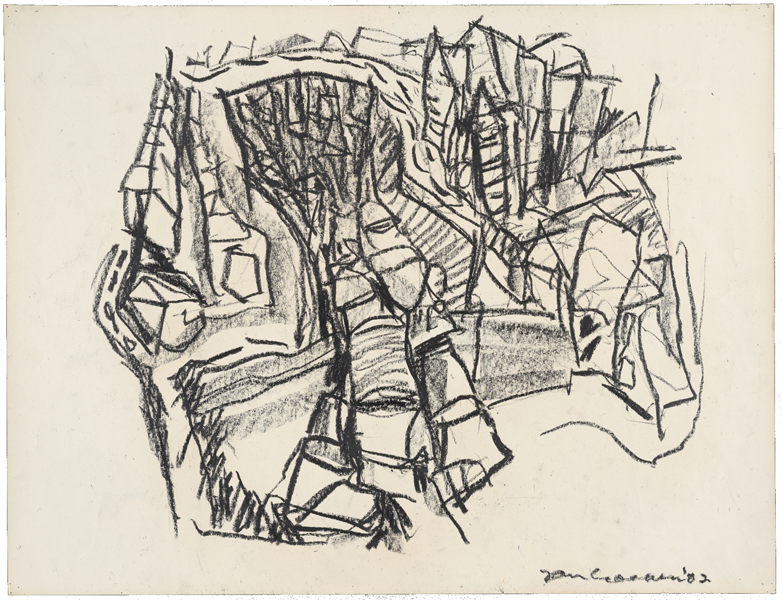 1962, Jan Goossen, 'Parijs, Seine', charcoal on paper