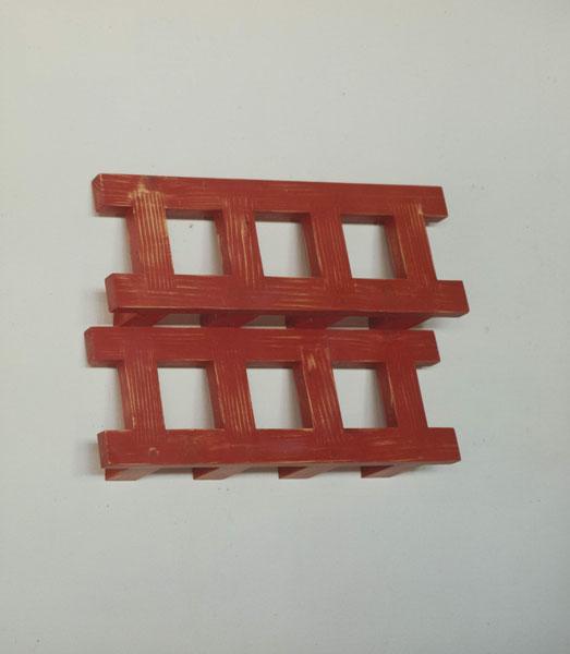 1992, Jan Goossen, Relief, polychromed wood, 30cm x 38 cm x 7 cm
