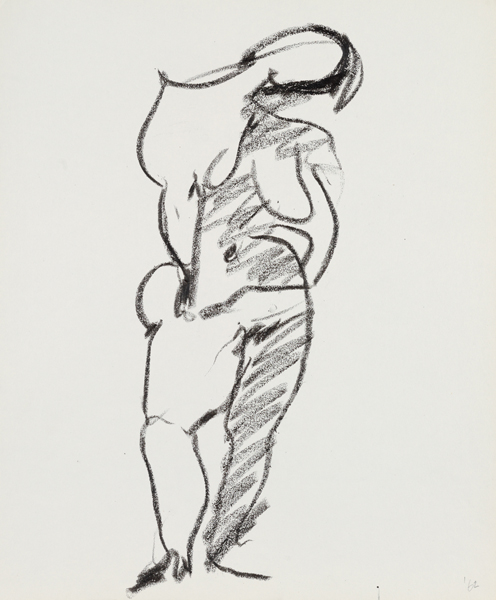 1962, Jan Goossen, 'Model', charcoal on paper