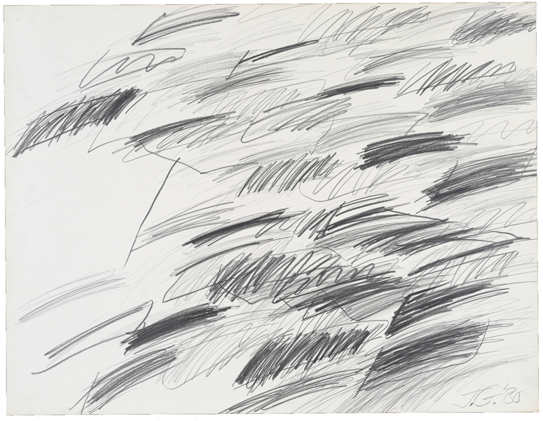 1980, Jan Goossen, No Title, pensil on paper, 50 x 65 cm