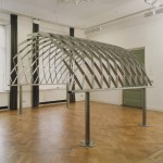 1994, Jan Goossen, 'Boog', rvs , 285 cm x 250 cm h (demontabel). Exhibition Galerie Tegenbosch, Heusden. Photo Martin Stoop