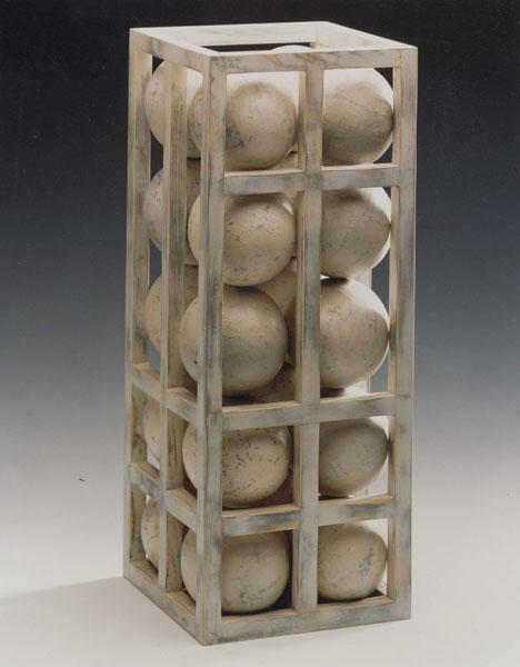 1994, Jan Goossen, sketch Maasbrug, Heusden, wood and paper