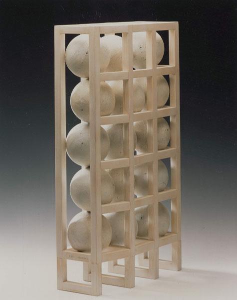1994, Jan Goossen, sketch Maasbrug, Heusden, hout en paper, private collection