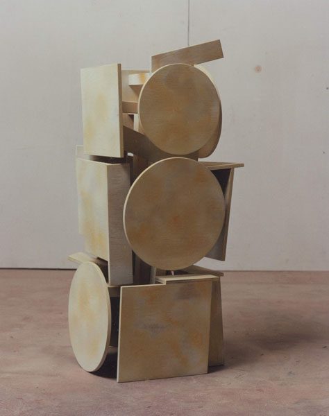 1995, Jan Goossen, Bearer I, polychromed wood, h 71 cm. Photo Martin Stoop