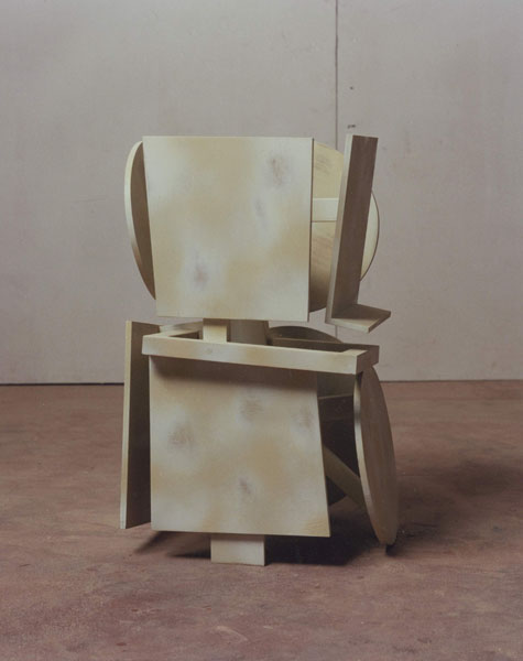 1995, Jan Goossen, Bearer II, polychromed wood , h 53 cm. Photo Martin Stoop
