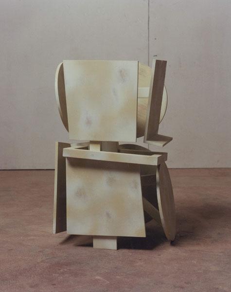 1995, Jan Goossen, 'Bearer II', polychromed wood , h 53 cm. Photo Martin Stoop