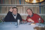 1996 november, Jan Goossen (links) en Lambert Tegenbosch (rechts). Galerie Tegenbosch, Heusden. Photo Yvette Lardinois