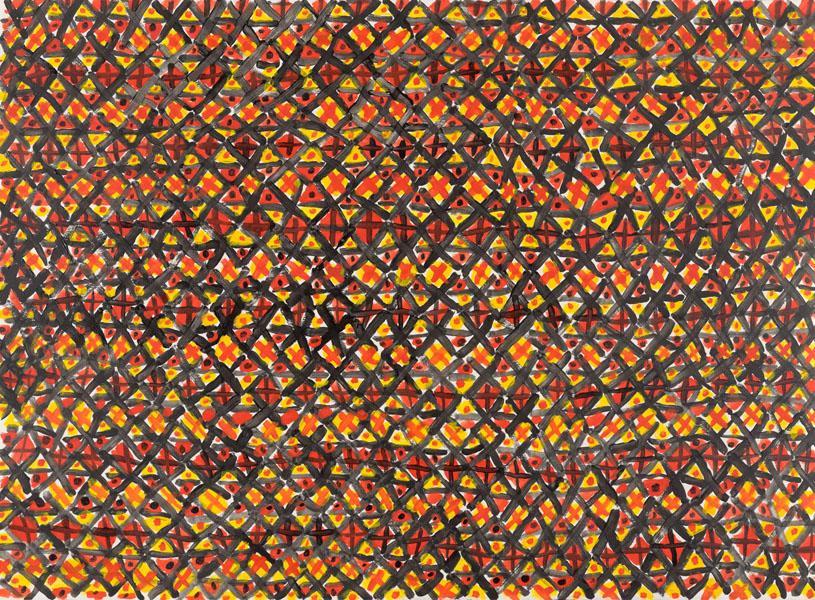 1981, Jan Goossen, No Title, ink and gouache
