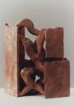 1995, Jan Goossen, ceramic, 21 x 25 cm, x 60 cm h. Made in European Ceramics Workcentre (.ekwc) Photo Peer van der Kruis
