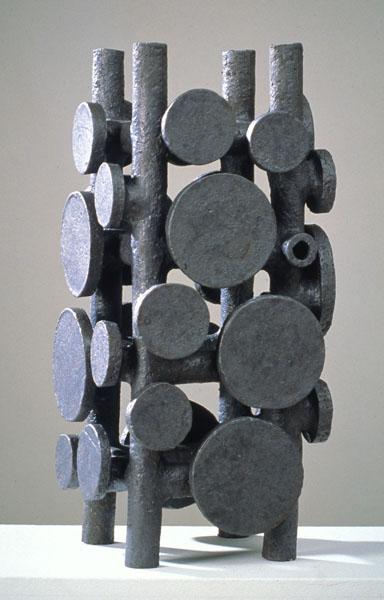 1995, Jan Goossen, ceramic, 24 x 25 cm x 52 cm h. Made in European Ceramics Workcentre (.ekwc) Photo Peer van der Kruis