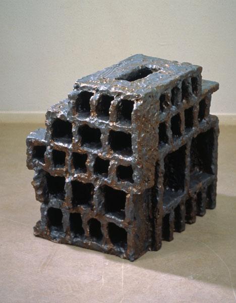 1995, Jan Goossen, ceramic, 54 x 42 cm x 51 cm h. Made in European Ceramics Workcentre (.ekwc) Photo Peer van der Kruis