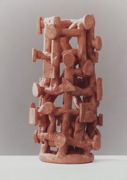 1995, Jan Goossen, ceramic,,' African Signal', doorsnede 27 cm x 60 cm h. Made in European Ceramics Workcentre (.ekwc) Photo Peer van der Kruis