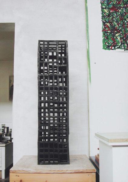 999, Jan Goossen, 'Zuil', bronze, 22,5 cm x 22,5 cm x 90 cm h. Photo Yvette Lardinois