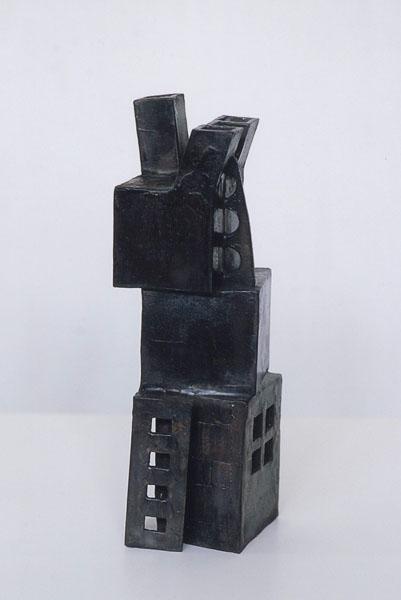 2000, Jan Goossen, No Title, bronze, 11 cm x 11 cm x 35 cm h