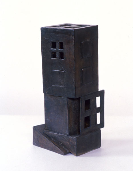 2001, Jan Goossen, Stapeling, bronze, 7 cm x 9 cm x 25 cm h