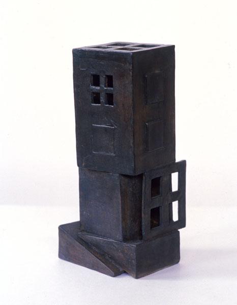 2001, Jan Goossen, 'Stapeling', bronze, 7 cm x 9 cm x 25 cm h