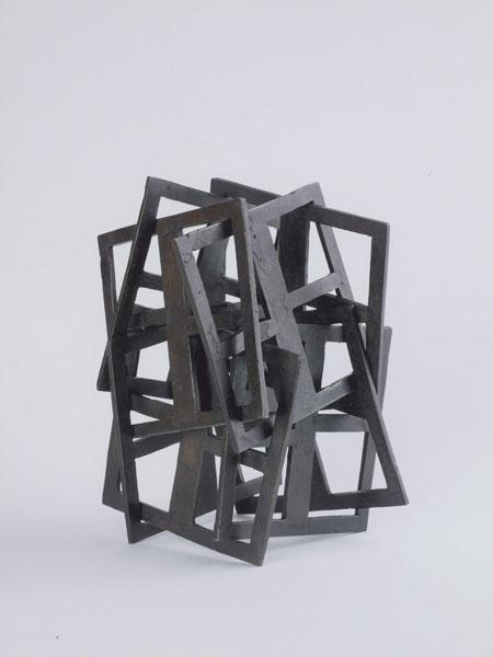 2002, Jan Goossen, 'Dancing Squares I', bronze, 18 cm x 24 cm h