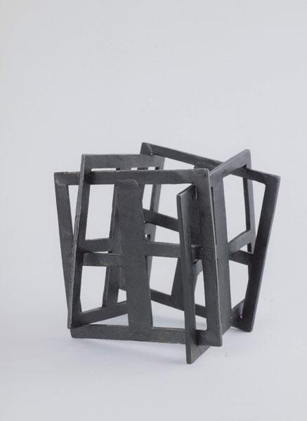 2002, Jan Goossen, 'Dancing Squares II', bronze, 13 cm x 16 cm h