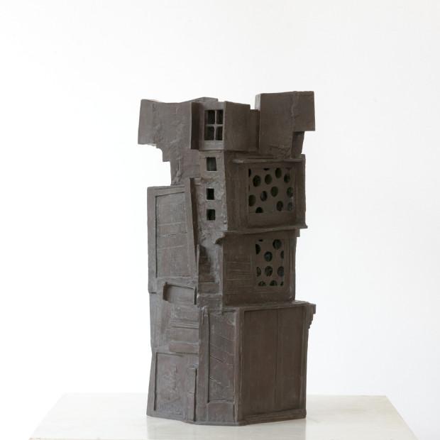 Jan Goossen, Star Wars I, 2002, brons, H 66 cm, 39 x 34 cm. Foto Anda van Riet