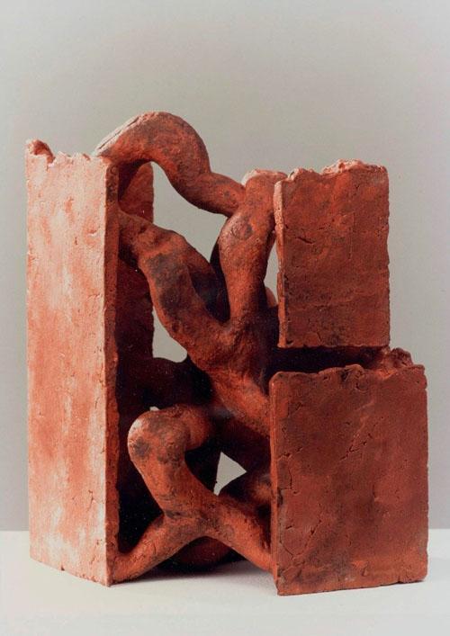 Jan Goossen Keramisch beeld met vlakken
