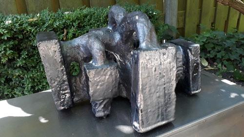 Jan Goossen Zwart beeld met vlakken