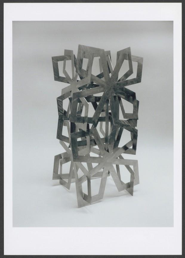 1999, Jan Goossen, Paso Doble, roestvrij staal, schets voor groot beeld, 66 cm hoogte.